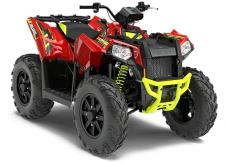 The Scrambler®   XP 1000 is the world's most powerful racing ATV. Delivering a whopping 90 HP to go with race-proven sport performance features like Fox Podium X Shocks, sport-tuned rolled independent rear suspension, and stainless steel exhaust, you'll leave other riders in the dust whether you're dominating the trails or speeding through the desert.      89 HP Twin Cylinder 952cc EFI Engine     Front & Rear Racks for 75 lb. Total Capacity     Fox Podium X Shocks     Sport Tuned Rolled Independent Rear Suspension (IRS)     11.5 of Ground Clearance     High-Mount Stainless Steel Dual Exhaust Pipes     26 Aggressive CST Tires with 14 Steel Rims
