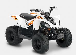 SHARE YOUR PASSION. From the age of 6, the DS 70 is the perfect first off-road ride with throttle limiter and other safety features.