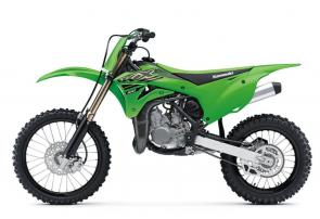 Mold your aspiring racer by bridging the gap to full-size bikes with the KX�100 dirt bike. With a 99cc engine, this two-stroke super-mini gives riders the perfect blend of durability and proportionate power increase with a larger chassis before transitioning to the big bikes.