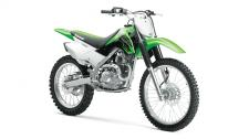 The KLX140G motorcycle is over 30 pounds lighter than all other competitors, offering confidence-inspiring performance in an easy-to-ride package. This off-road motorcycle features full-size wheels, comfortable ergonomics and light, nimble handling that is appreciated by riders of all skill levels. This combination allows riders to focus on fun, while the dependability and low-maintenance of the KLX140G make it the ultimate companion on the trail.