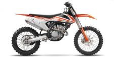 KTMs 2017 350 SX-F was built with the serious off-road enthusiast in mind. 350cc of power, a 38-inch seat height, and a sticker price of $9,199 differentiate this KTM in what has become a highly competitive segment of the motorcycle market. Built in Austria but ridden the world over, the 350 SX-F was designed to be taken straight off the showroom floor and ridden away from the truck and into the elements - a 1.8-gallon tank provides fuel for the journey.