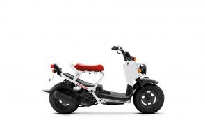 It's often said that the simplest answer is the best one. If that gets your head nodding, then the 2020 Honda Ruckus is the ride for you. At its core is a rock-solid 49cc engine delivering plenty of get-up-and-go. A tough, tubular frame surrounds it, as well as our Honda V-Matic® automatic transmission. Just press a button, twist the throttle and start having fun. It's as simple as that.