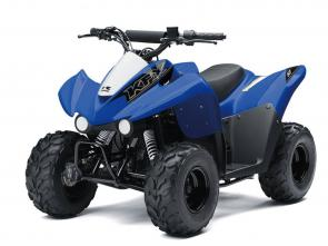 Give kids ages six and older the ability to confidently tackle the dirt. KFX®50 ATVs are ideal for young adventurers, featuring 49.5cc of power and smooth performance that can help give riders experience in a controlled manner.