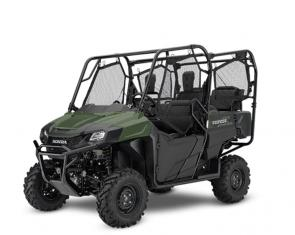 There are a lot of ways to judge a side-by-side: Bang for the buck. Power to weight. Overall build quality. And real-world usefulness. Honda's Pioneer 700-4 side-by-sides just get it all so right on so many levels. They put versatility and capability at the top of their can-do list, and back it up with Honda engineering. And with Honda's exclusive QuickFlip® seating, a Pioneer 700-4 can carry up to four people, total. When you're not using the QuickFlip seats they fold flat, so you get maximum utility when it comes to hauling.  While you're at it, check out our Pioneer 700 two-seat models as well—same great platform, but a little lighter and a little lower cost. Either way, you'll have a hard-working utility vehicle that's one of our best ever. 252616
