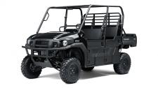 The MULE PRO-FXT side x side has incomparable strength and endless durability backed by over a century of Kawasaki Heavy Industries, Ltd. (KHI) engineering knowledge. Go and get the job done with the MULE PRO-FXT side x side's three-passenger Trans Cab system, or easily convert it to six-passenger mode for a revolutionary new way to work and play.
