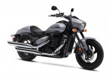 The Suzuki Boulevard M50 is a muscle cruiser with sleek, yet powerful styling that includes slash-cut mufflers, a hard-tail look, and drag-style bars.