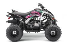 With electric start, reverse, and legendary Raptor styling, this youth ATV is pure fun for riders 10‑years‑old and up.  YFM09RY XLW