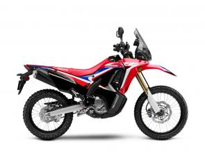Inspired by the factory CRF450 Rally machine raced in the Dakar by Team Monster Energy Honda, and based on the standard CRF250L, the CRF250L Rally is ready for weekend adventure, long-distance touring or the daily commute.