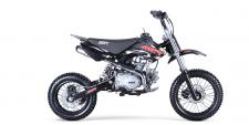 124cc , 4 Stroke, Single Cylinder, Air Cooled - 4 speed manual transmission - Available in Black, White, Green, Blue, Red, Orange.