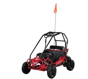 The Hammerhead Torpedo might be our smallest vehicle but is enormous, in terms of fun, for the kids. The Torpedo comes equipped with a 136cc (4 HP) LCT pull-start engine. The throttle governor and adjustable pedals feature make the Torpedo the perfect choice as an entry-level go kart for ages 6+.