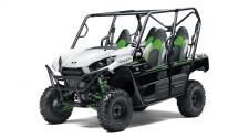 Eager for action, the Kawasaki Teryx4 side x side is built to dominate the most demanding trails. With the perfect combination of rugged sport performance and useful capability, the Teryx4 is up for a variety of challenges.