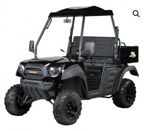 The Hammerhead R-150 is our light-duty, two-wheel drive utility vehicle that is ideal for cruising around the lake house or doing maintenance around your property. The R-150 features a stylish exterior and spacious interior. There is not a more affordable UTV on the market with this much durability, quality and comfort.