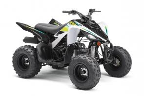 CALLING NEW RIDERS With electric start, reverse and legendary Raptor styling, this youth ATV is pure fun for riders 10‑years‑old and up.