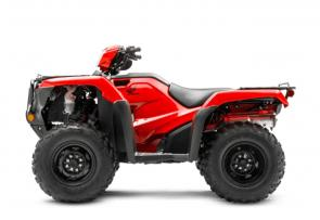 Everyone who works with their hands learns a truth early on: Never cut corners when it comes to your tools. Which is exactly why so many people rely on Honda's line of FourTrax Foreman ATVs. And it doesn't hurt that, like you, they play just as hard as they work. All three models offer features like a powerful 518cc engine, tough front and rear racks, an easy-to-use reverse system, a handy utility box and more. And every Foreman here uses a swingarm rear suspension that's perfect for hard work or towing. Looking for a machine with independent rear suspension (IRS)? Right this way: Check out our Foreman Rubicon models. 253068
