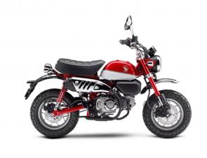 When the first Honda Monkey swung onto the scene in the 1960s, it was an instant hit. But times change – and this Monkey has evolved. Looking for a better everyday way to get around town? The 2021 Honda Monkey just might be your machine. Need something practical to scoot around on once you've parked a bigger vehicle? This little primate is made for the job. Or maybe you're just looking for the best time you can have on 125cc's of pure fun. Yep. That's the Monkey, without a doubt. Available in eye-catching Pearl Nebula Red or cool Pearl Glittering Blue. There's an ABS version too. We guarantee you'll go bananas over it. 253868