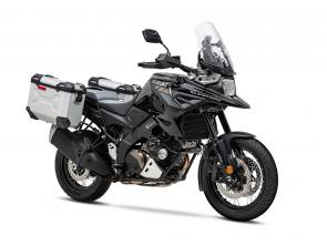 Introducing the new generation 2020 V-STROM 1050XT Adventure. The latest entry into the V-STROM legend is here to help you escape into the wilderness and explore to your heart's content. A sleek look with the latest electronic features, travel-ready aluminum panniers, and heated grips delivers everything you need for a stress-free, comfortable ride. Limitless potential is engineered in so you can continue your adventure without pause.